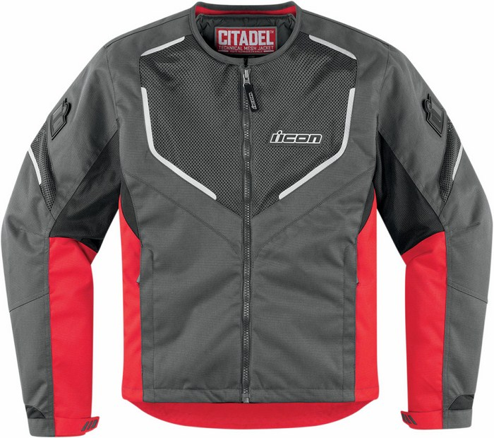Icon motorcycle jacket summer Citadel Red Mesh