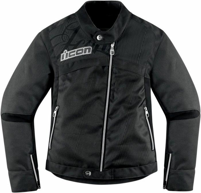 Motorcycle jacket woman Icon Hella Black 2