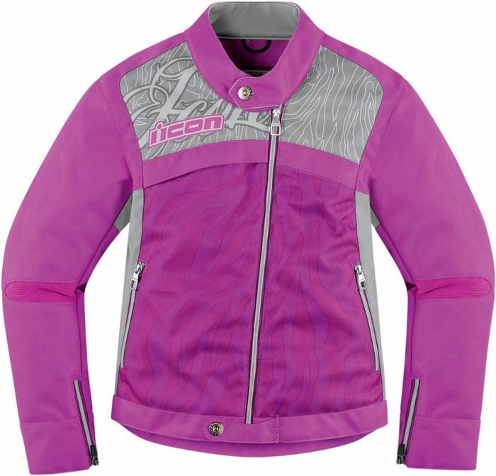 Motorcycle jacket Women Purple Icon Hella 2