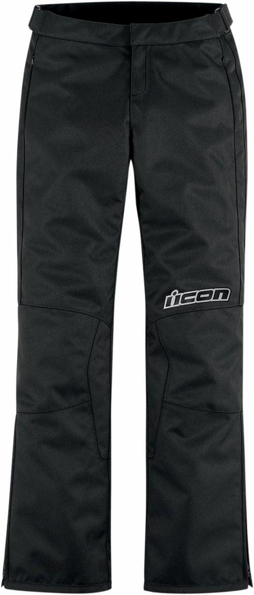 Pantaloni moto donna Icon Hella 2 Nero