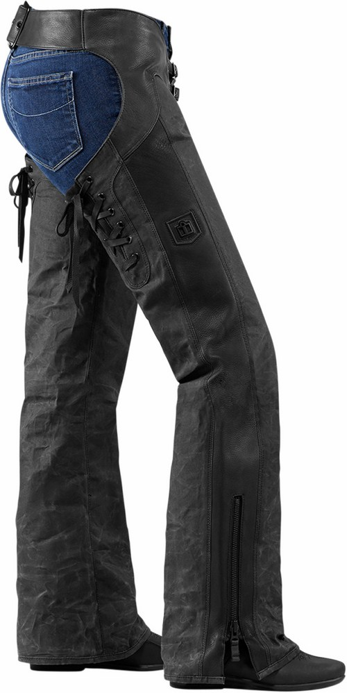 Motorcycle Chaps Icon Women Hella 1000 Black