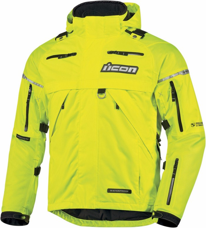 Icon Patrol Waterproof Motorcycle Jacket Waterproof Fluorescent