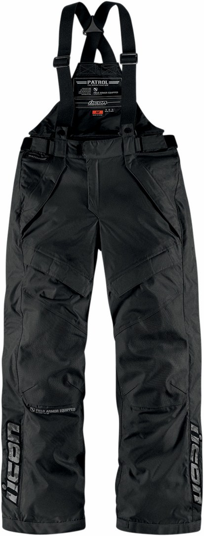 Icon Patrol Waterproof Motorcycle Pants Waterproof Black