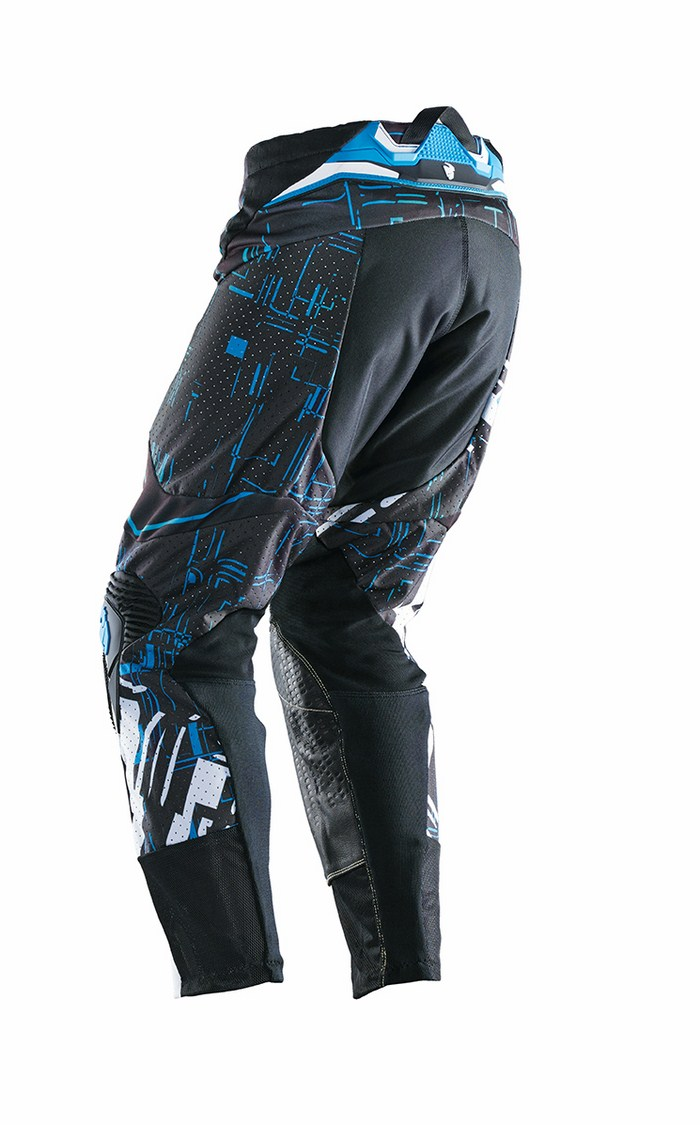 Pantaloni cross Thor Flux Block blu nero