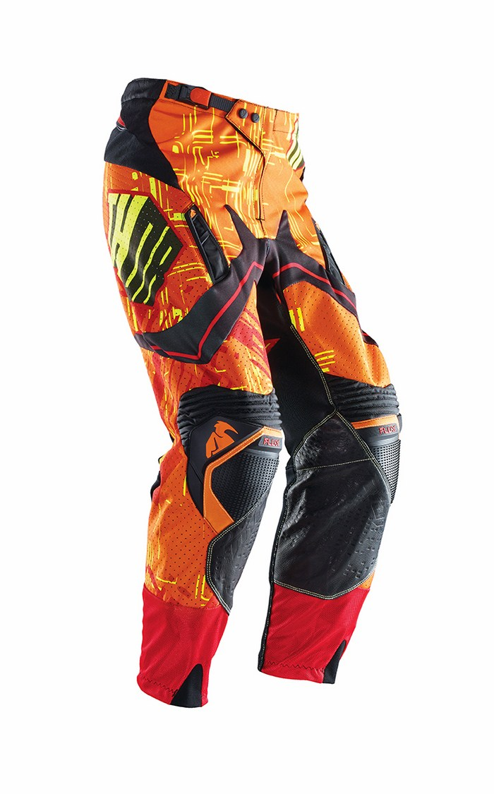 Thor Flux Block pants yellow red cross