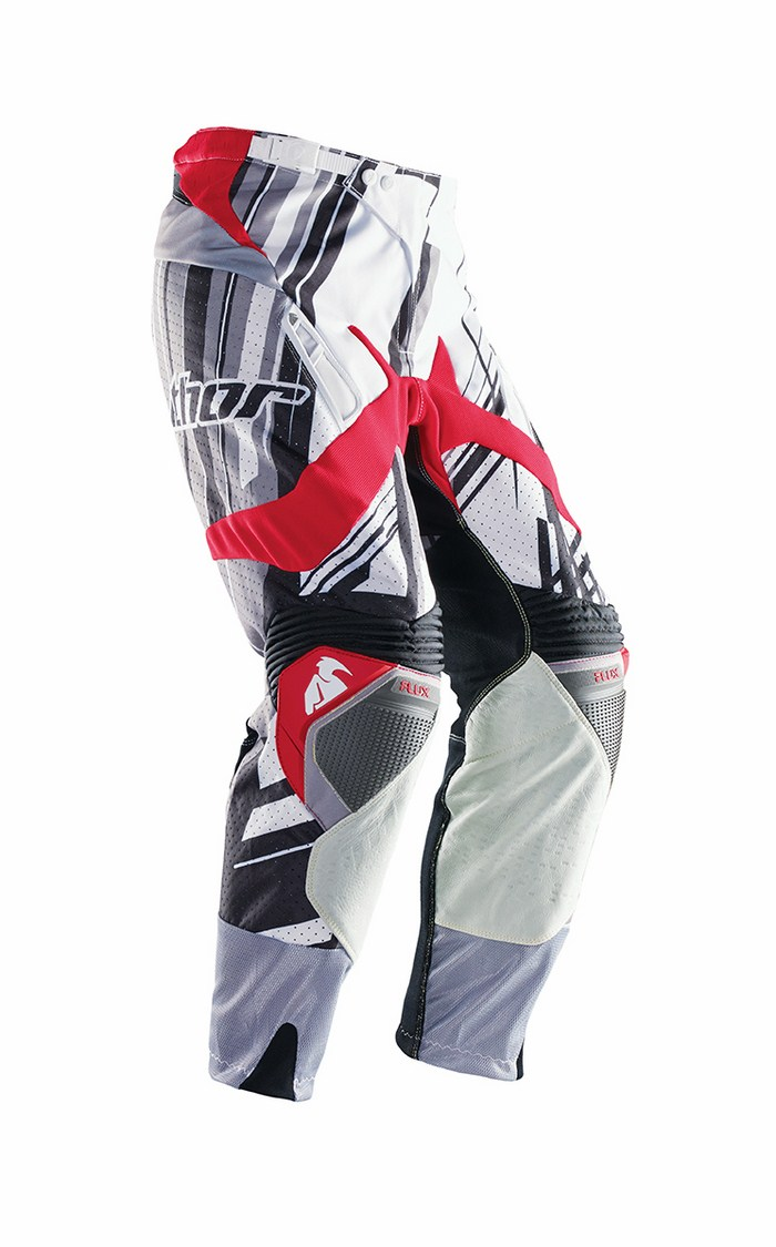 Pantaloni cross Thor Flux Shred grigio rosso