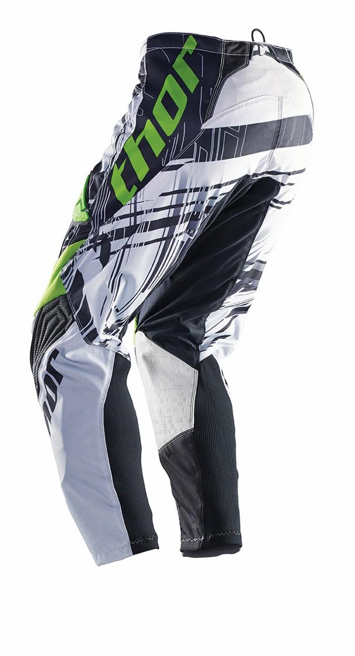 Thor Phase Pants cross Swipe white black green