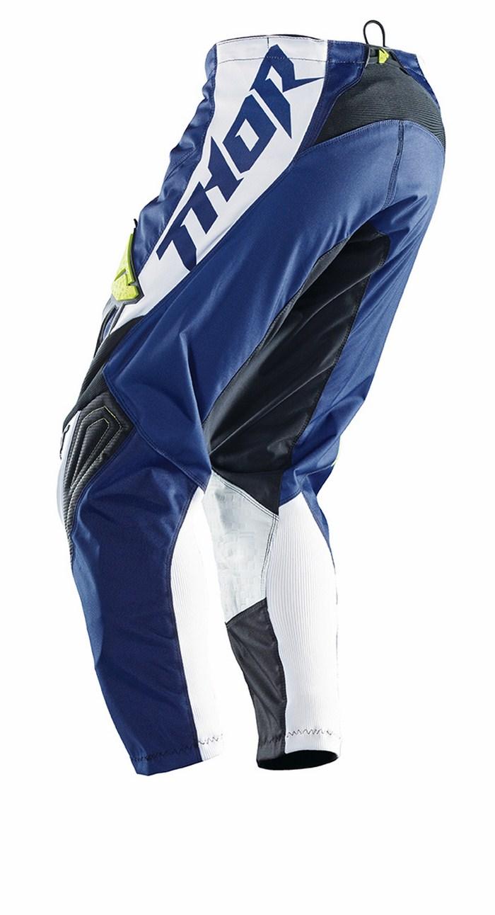 Pantaloni cross Thor Phase Stripe navy verde