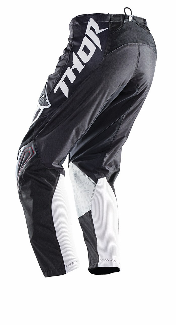 Pantaloni cross Thor Phase Stripe rosso nero