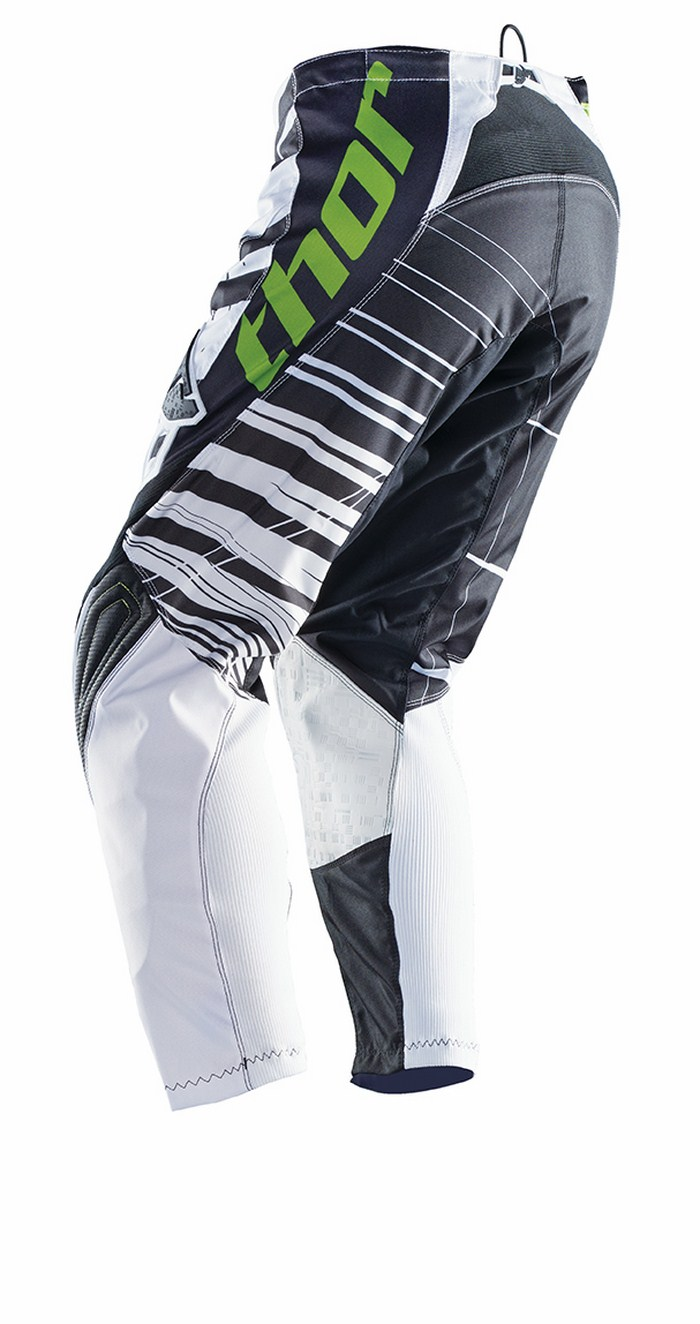 Pantaloni cross Thor Phase Mask bianco nero verde