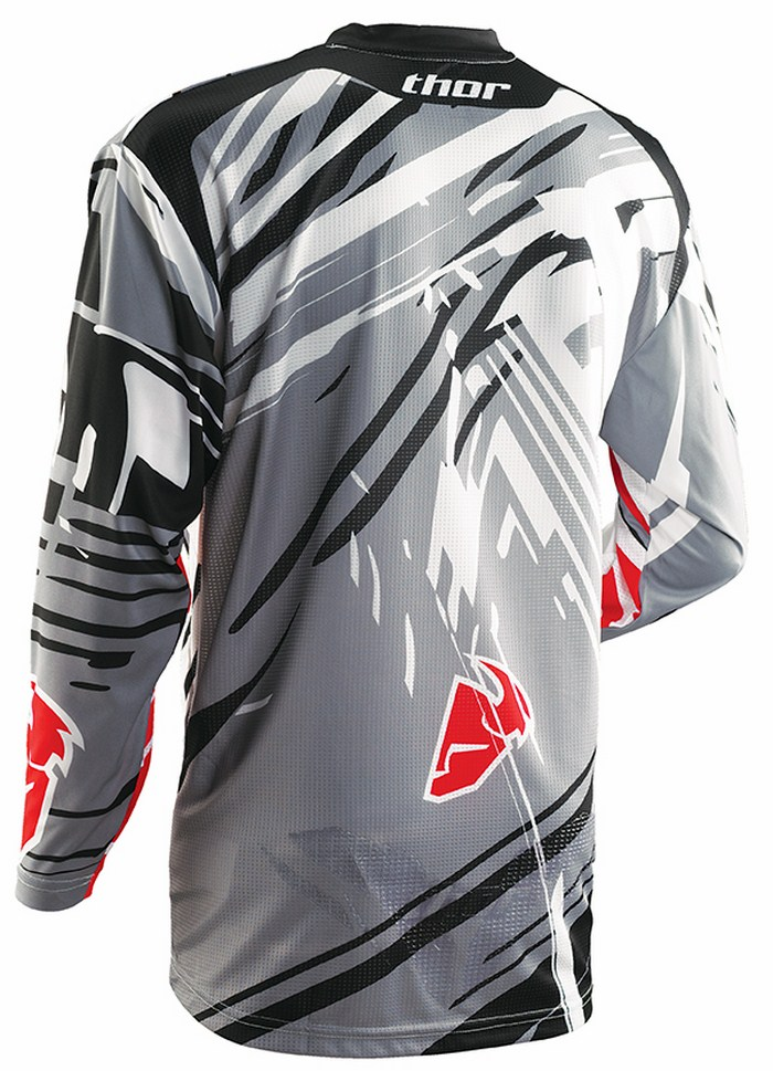 Thor Flux Jersey cross Shred gray red
