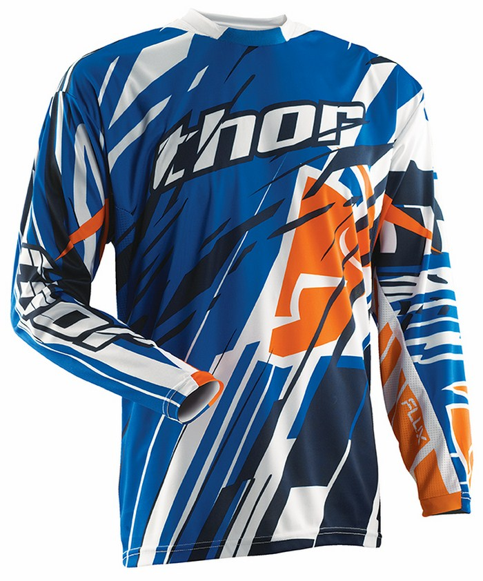 Maglia cross Thor Flux Shred blu