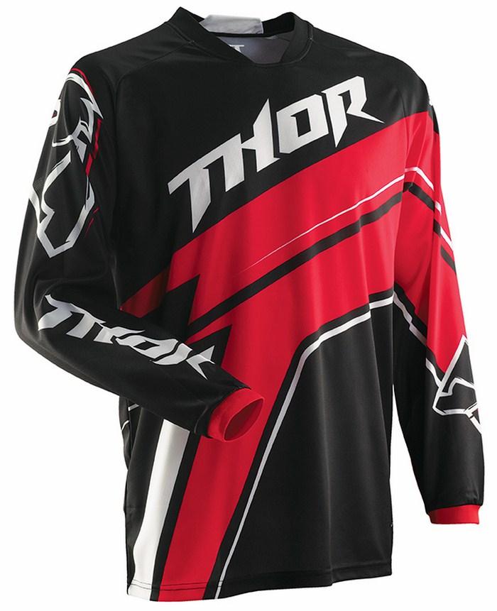 Maglia cross Thor Phase Stripe rosso nero