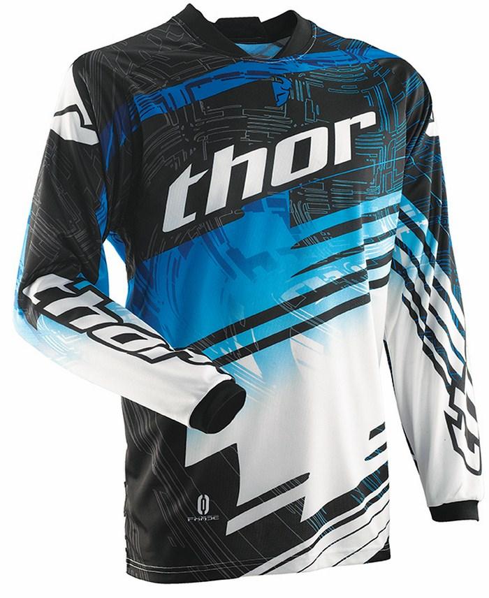 Thor Phase Jersey cross Swipe white black