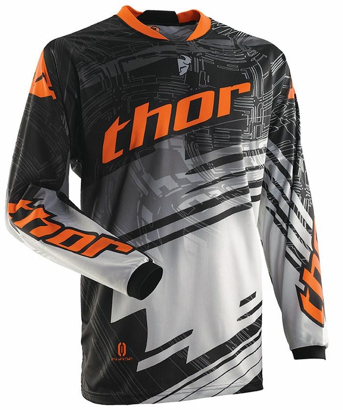 Thor Phase Jersey cross Swipe white black orange