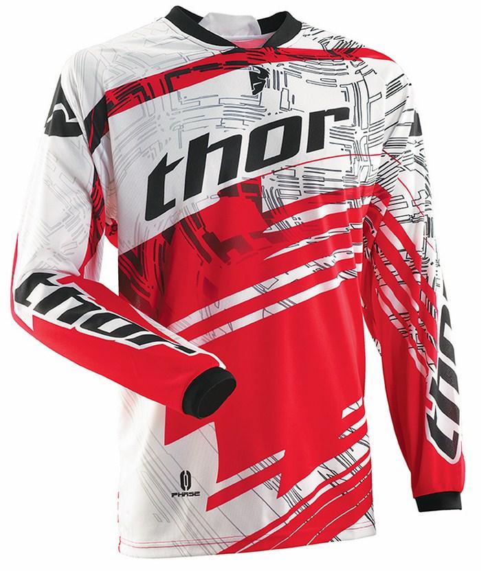 Thor Phase Jersey cross Swipe white black red