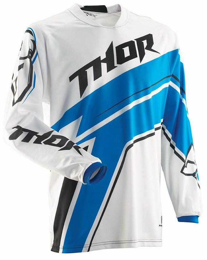 Maglia cross Thor Phase Stripe bianco blu