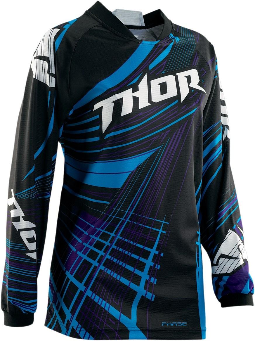 Thor Motocross Women's Phase Flora Jersey black
