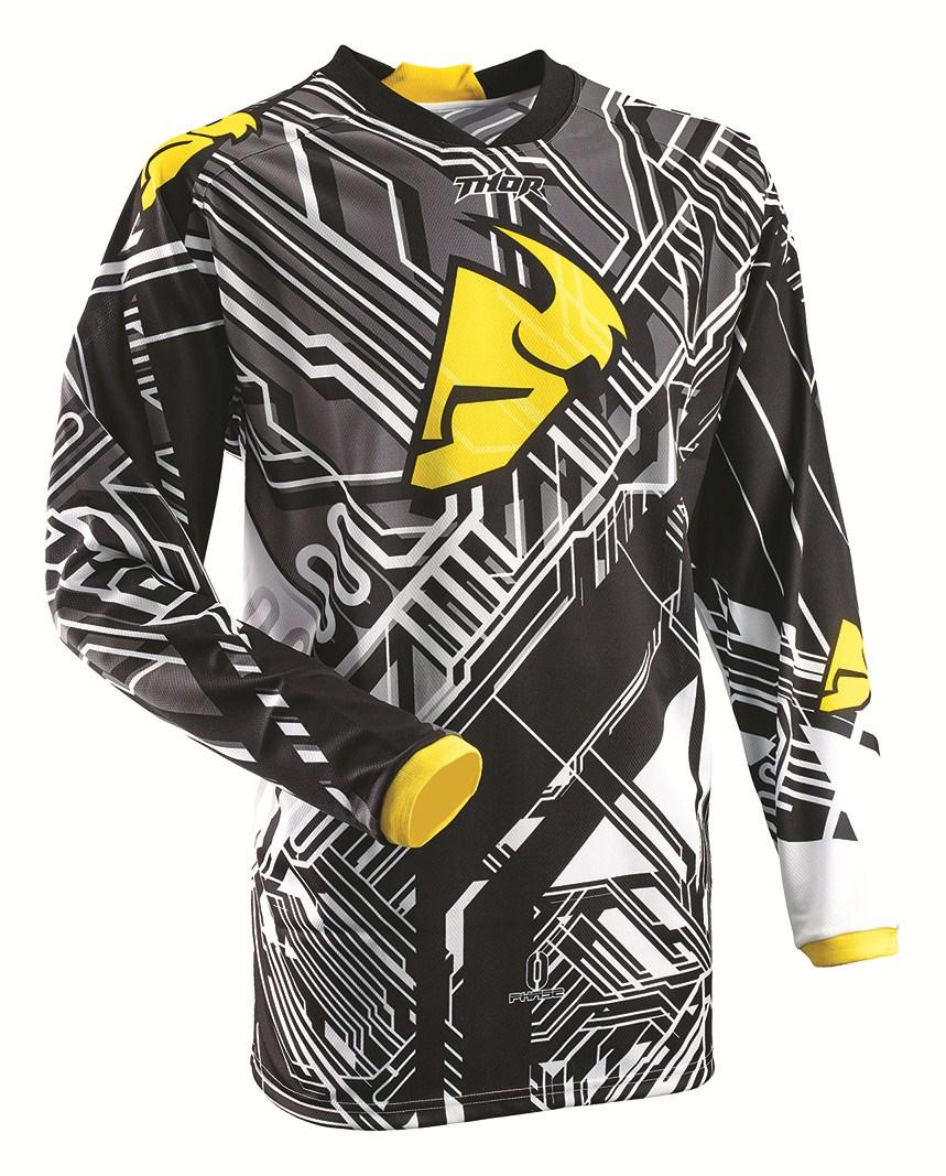 Maglia Cross Bambino Thor Phase Fusione Youth giallo nero