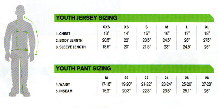 Thor Youth Phase Fusion Jersey yellow