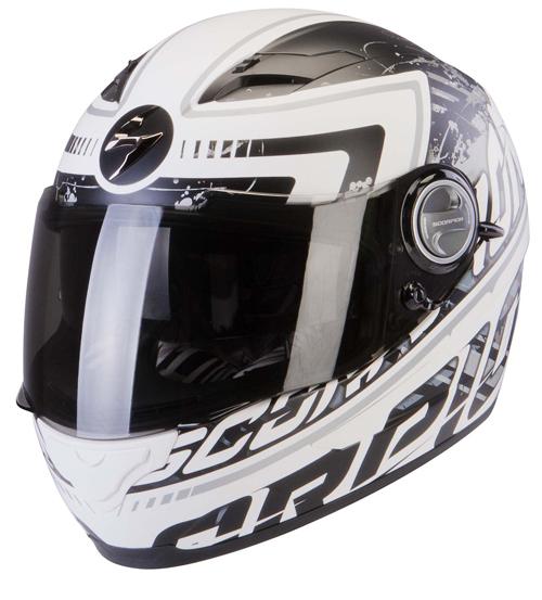 Scorpion Exo 500 Air Login full face helmet White Black