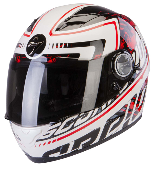 Scorpion Exo 500 Air Login full face helmet White Red