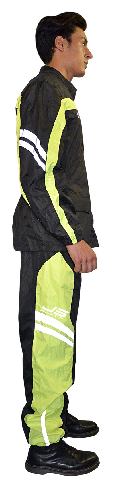 Rain suit divisible Jollisport Maja Black Yellow fluo