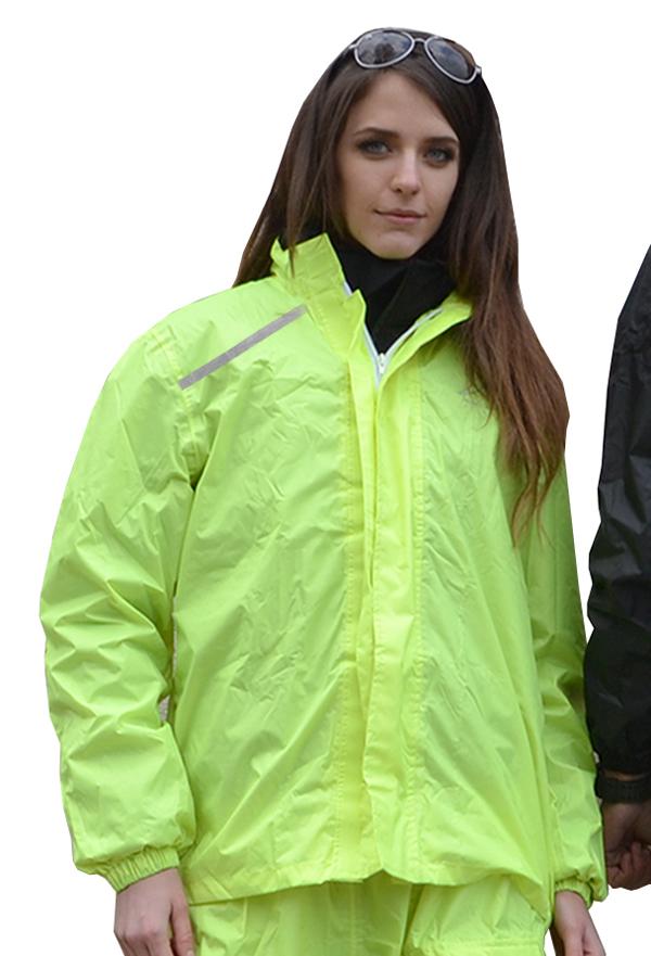 Ping fluorescent yellow rain jacket Jollisport
