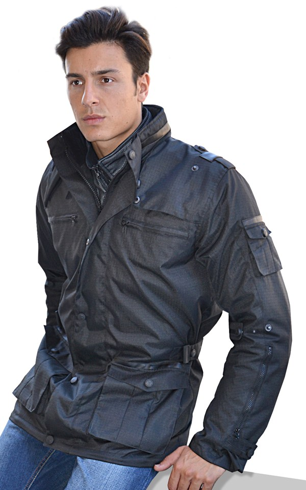 Motorcycle jacket Jollisport Black Doom