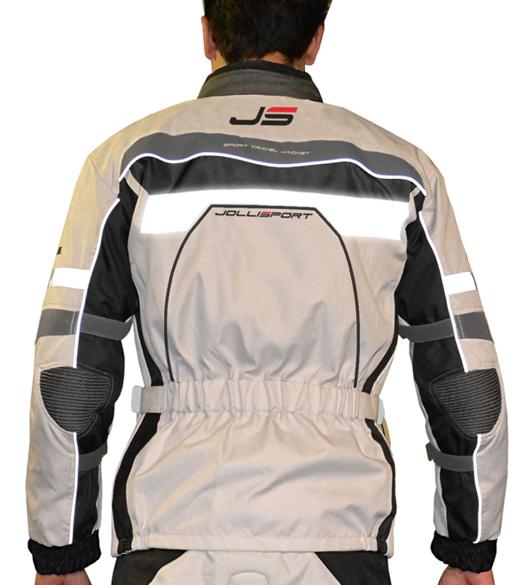 Motorcycle jacket Jollisport STJ Beige Black Ice