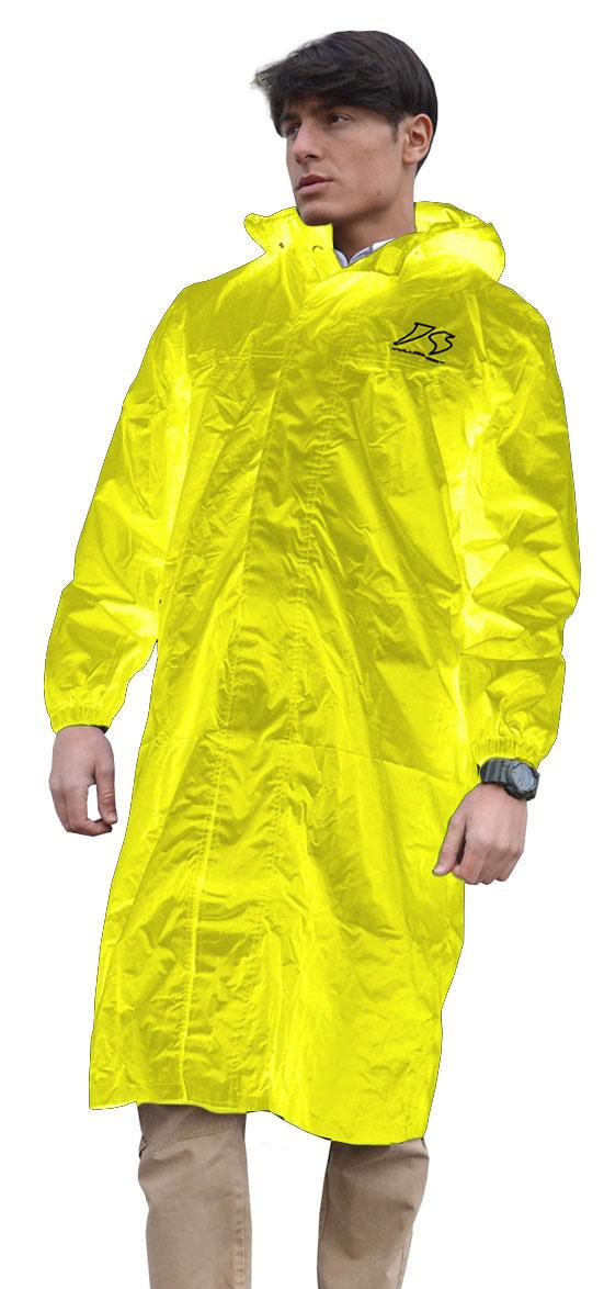 Giacca lunga antipioggia Jollisport Matrix giallo fluo