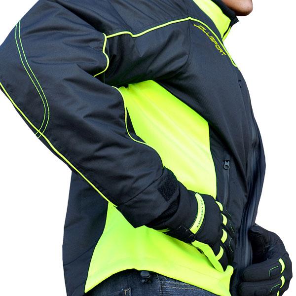 Motorcycle jacket Jollisport Cip Black Yellow fluo