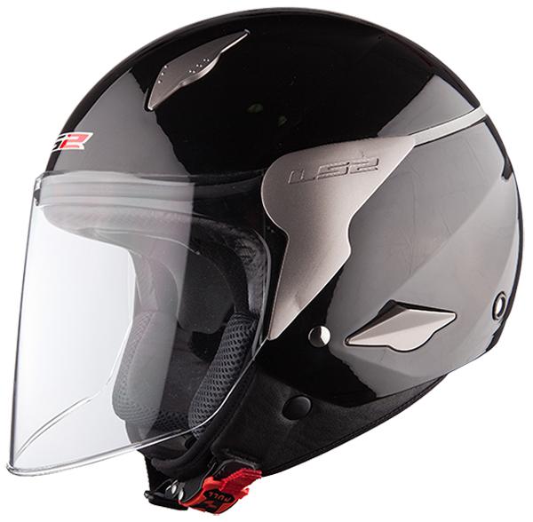 Jet helmet LS2 OF559 Rocket Black