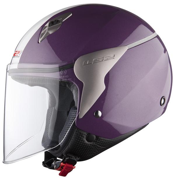 Casco jet LS2 OF559 Blink violet