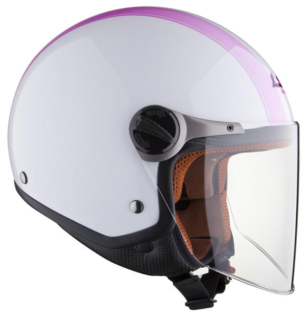 Casco jet LS2 OF560 Elite bianco rosa