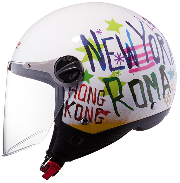 Jet helmet LS2 OF560 White City