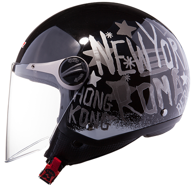 Jet helmet LS2 OF560 City Black