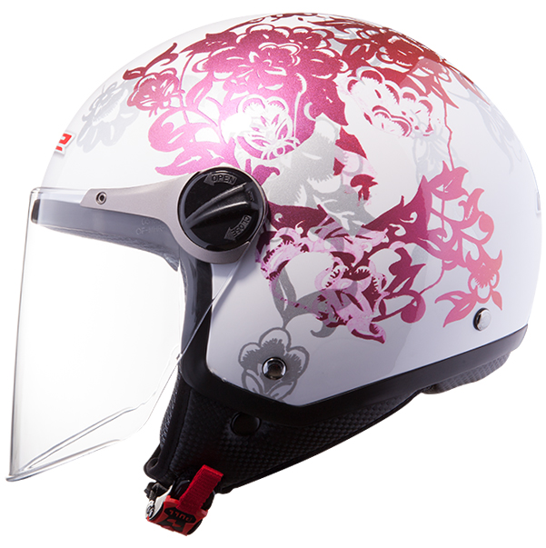 Casco jet LS2 OF560 Nature Bianco