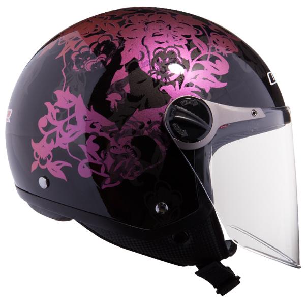 Jet helmet LS2 OF560 Black Nature
