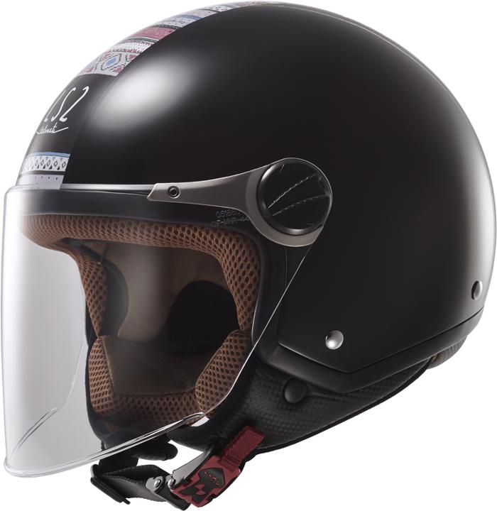 LS2 OF560 Rocket II Chameleon jet helmet Black