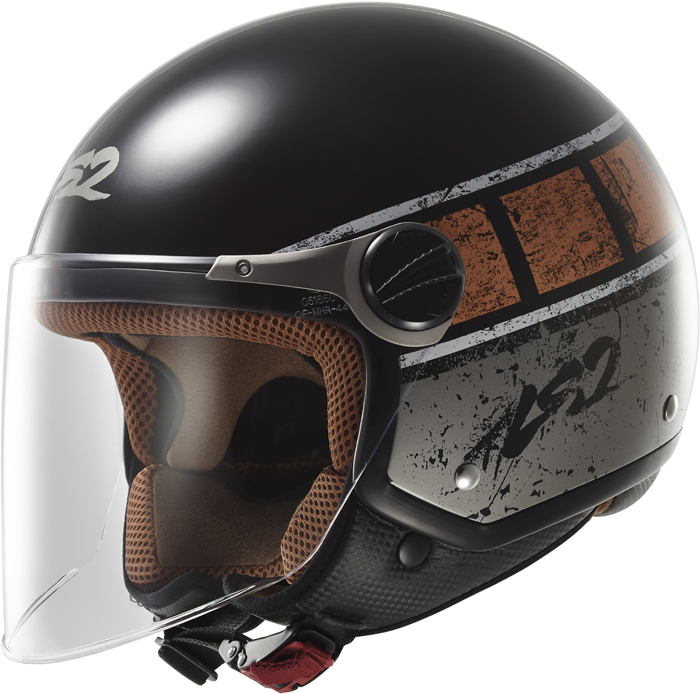 LS2 OF560 Rocket II Rook jet helmet Black Orange