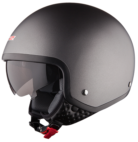 Casco jet LS2 OF561 Wave Titanio opaco
