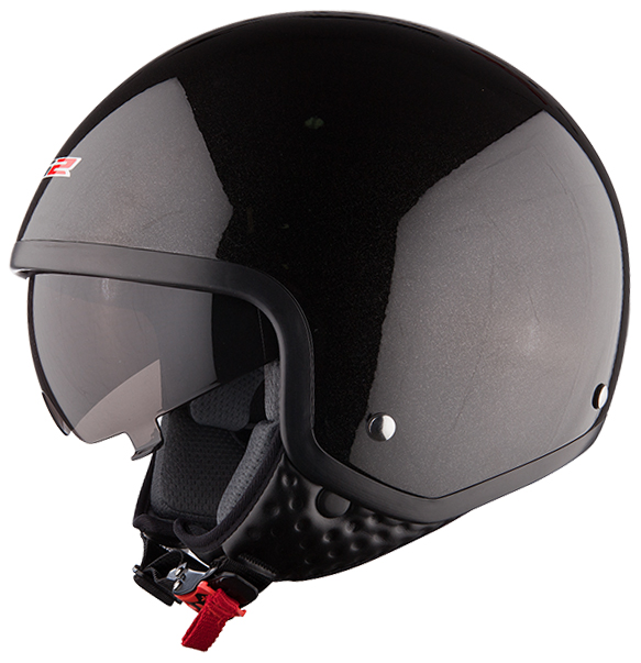 Casco jet LS2 OF561 Wave Nero