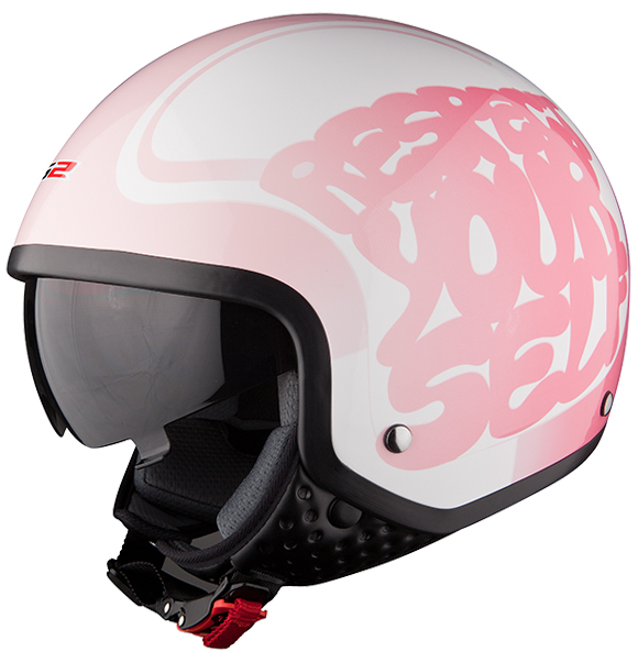 Jet helmet LS2 OF561 Respect White Pink