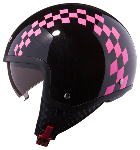 Casco jet LS2 OF561 Dinoco Nero Rosa
