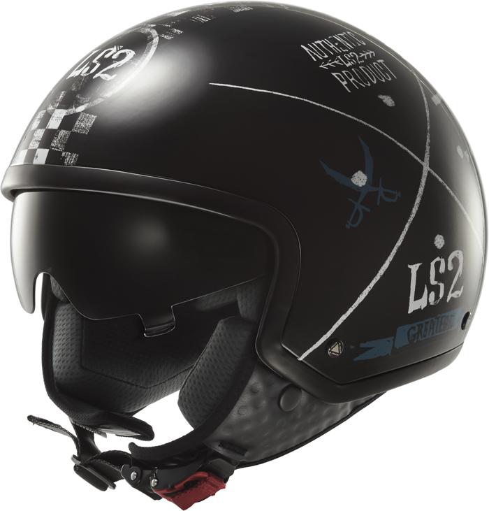 LS2 OF561 Wave Greatest jet helmet Black