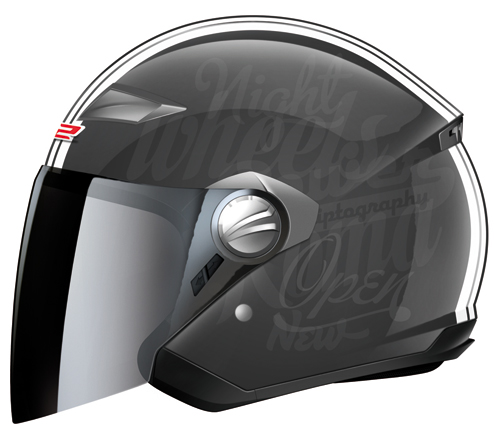 LS2 OF569.1 Party helmet with integrated sun visor