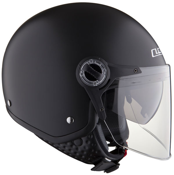 LS2 OF577 TWIN jet helmet with sunvisor Matt Black
