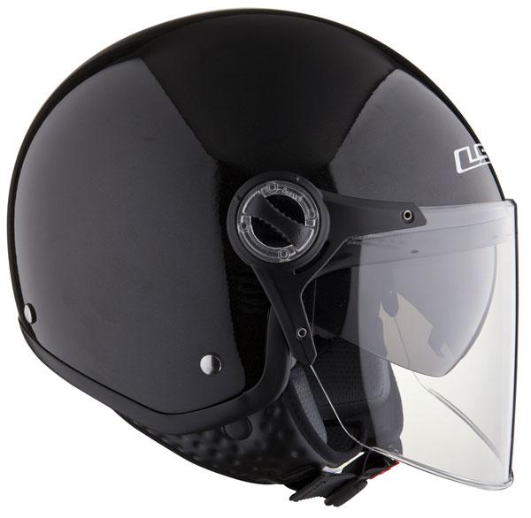 LS2 OF577 TWIN jet helmet with sunvisor Black