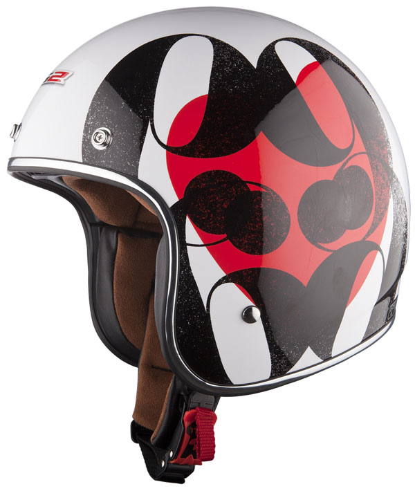 Casco jet LS2 OF583 in fibra Love